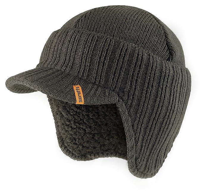 Scruffs Peaked Beanie Sombrero Negro con Aislamiento térmico Invierno cálido de Punto Elegante Peak Cap