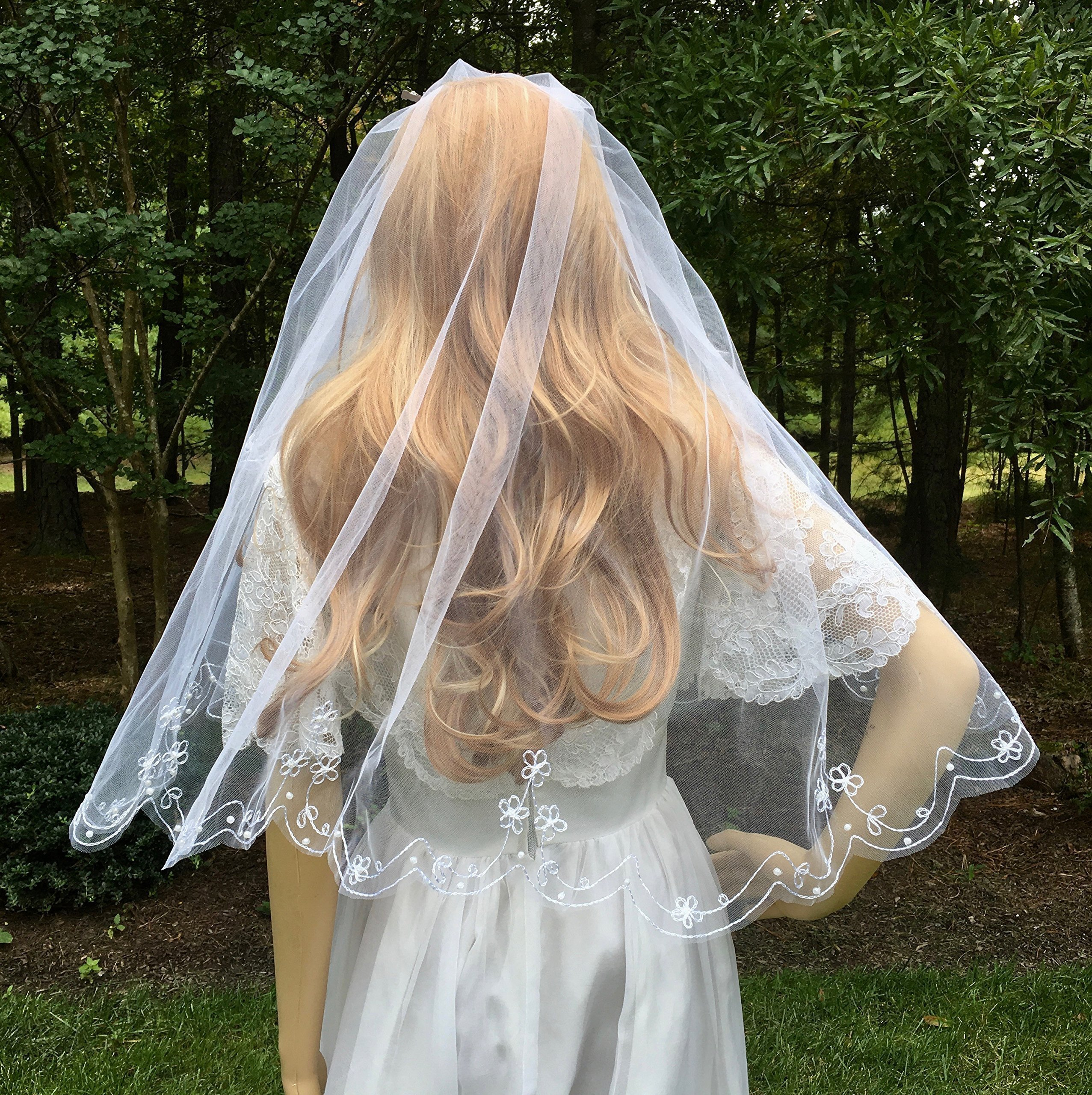 Two Tier Wedding Veil For Bride