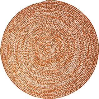 product image for Colonial Mills Kaari Tweed Round Indoor/Outdoor Braided Area Rug, 12' x 12', Rusted Orange