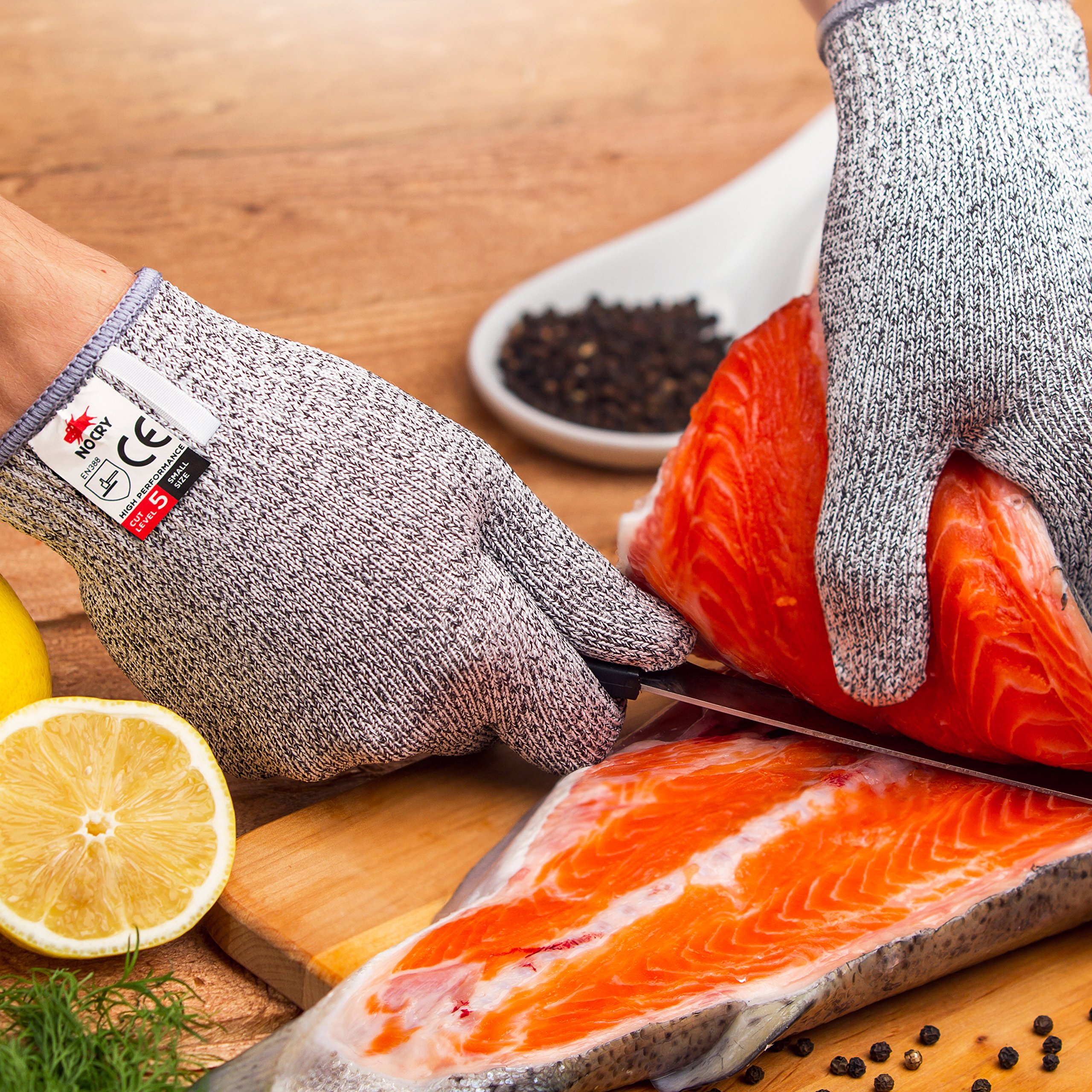 NoCry Cut Resistant Gloves - High Performance Level 5 Protection, Food Grade. Size Medium, Free Ebook Included! by NoCry (Image #6)