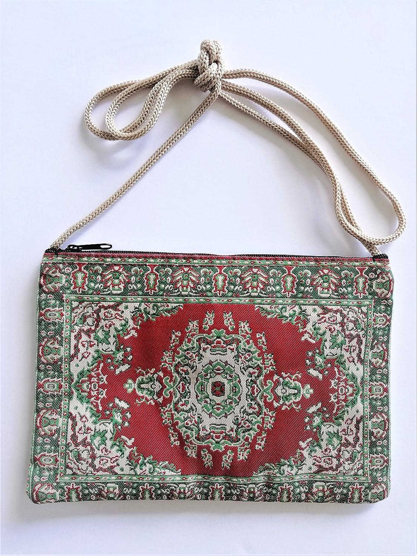 Bolso Monedero turco con cremallera y asa 8 x 15 (Verde y ...