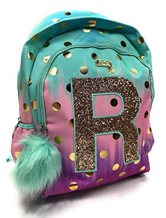 bb03f56ac53b Justice School Backpack Dot Ombre Foil Letter Initia (R)