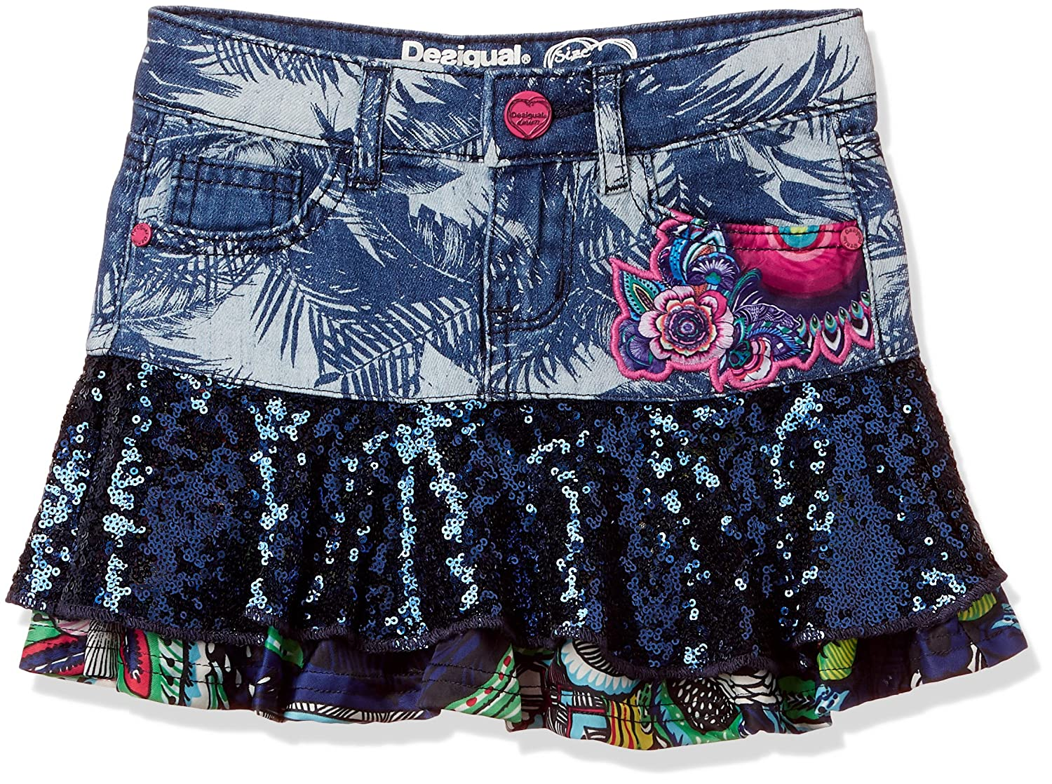 Desigual TANGAMANENT, Falda para Niñas, Denim Raw, 164: Amazon.es ...