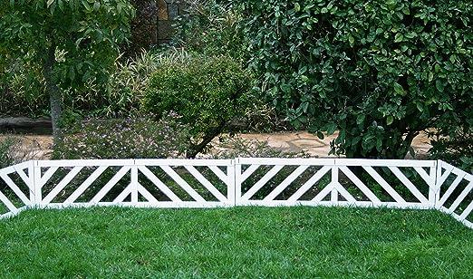 Mini valla/bordura BARCELONA en madera composite. Total piezas: 3 ...