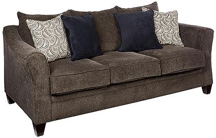 Amazon Com Simmons Upholstery 6485 03 Albany Pewter Albany Sofa