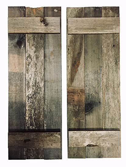 Lovely Rustic Decorative Barn Wood Shutter Set Of 2 For Wall Decor, Window Accents    Add