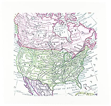 3drose Qs 112937 2 Vintage Map Of North America Usa Canada Mexico