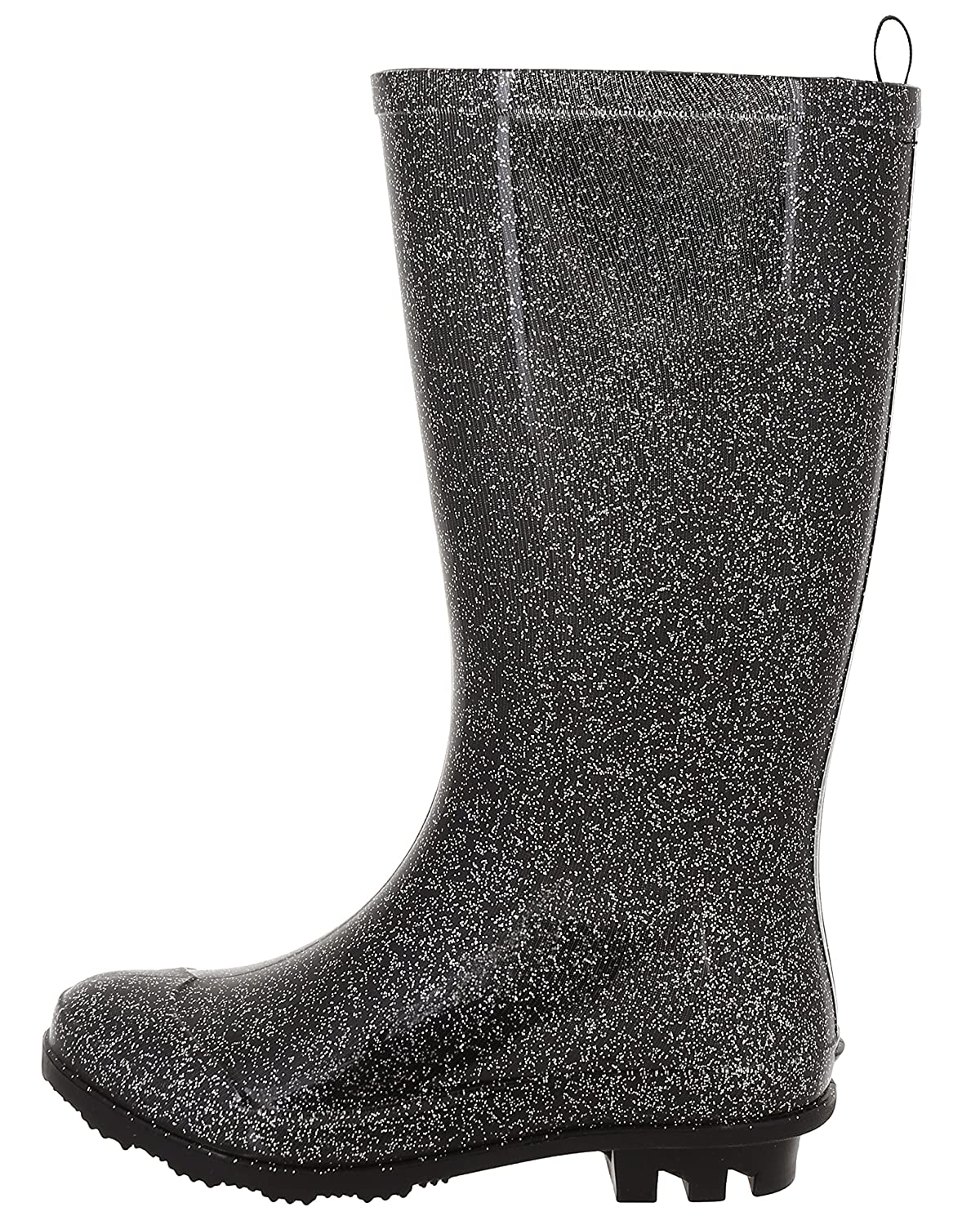 Capelli New York Girls Allover Glitter Fisherman Style Rain Boots RBT-2076KYFB
