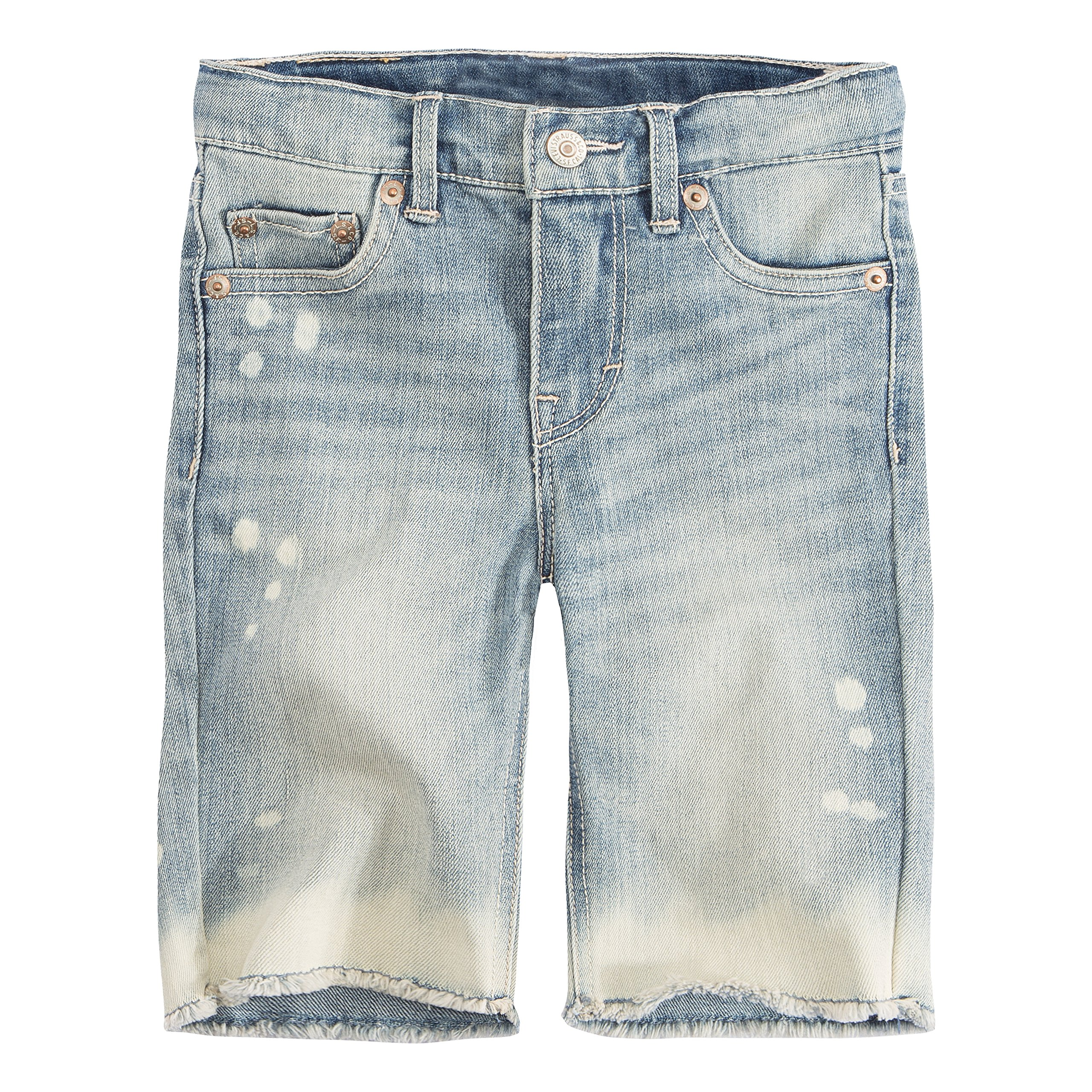Levi's Little Girls' Denim Bermuda Shorts, Weathered Indigo, 5