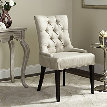 safavieh mercer collection erica side chair khaki grey - Side Chairs For Living Room