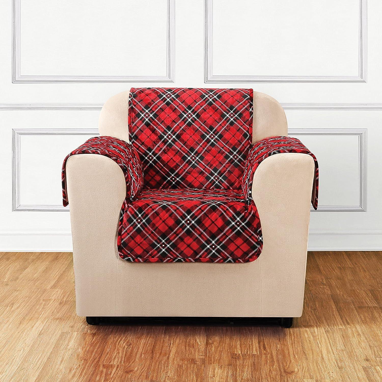 Tartan Plaid SureFit  Lodge Chair Pet Throw//Slipcover with Arms