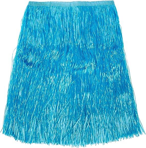 Verbetena - Falda Hawaiana rafia larga, color azul con velcro, 80x ...