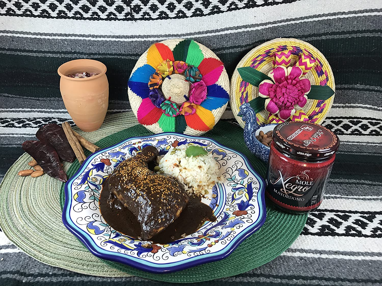 Amazon.com : Mole Negro and Rojo Mayordomo Combo (Mexican Mole Sauce Combo, Red and Black) : Grocery & Gourmet Food