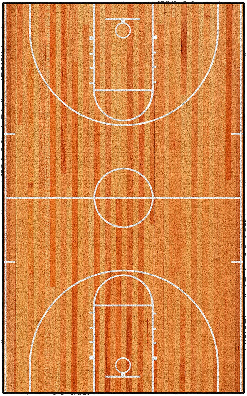 18 x 210 Brumlow Mills EW10162-20x34 Basketball Court Accent Rug