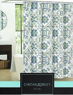 Cynthia Rowley Ornate Medallion Fabric Shower Curtain 72 Inch By 72 Inch  Shower Curtain  Cynthia Rowley Curtains
