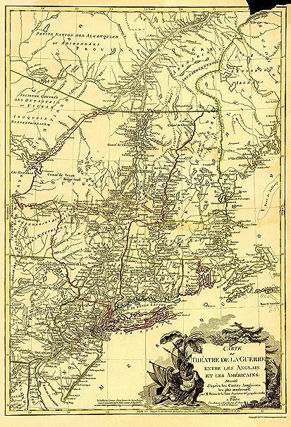 Amazon.com: Revolutionary War Map - Theater of War, English ...