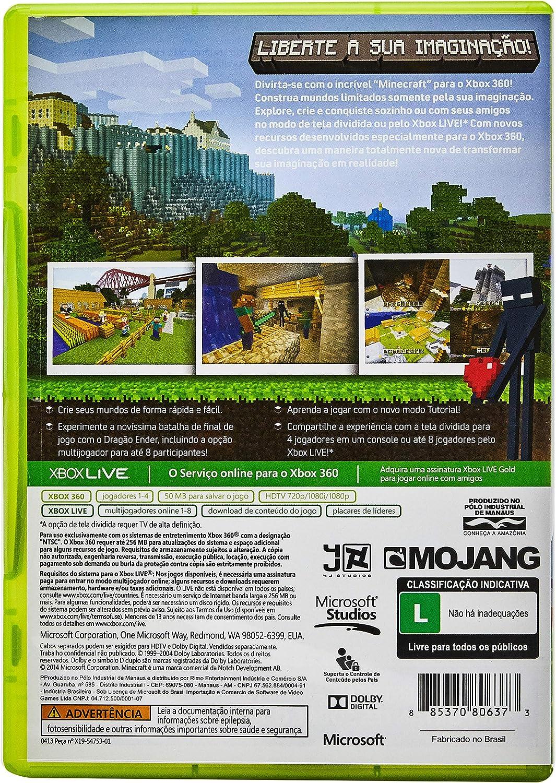 Game Microsoft Xbox 8 - Minecraft  Amazon.com.br
