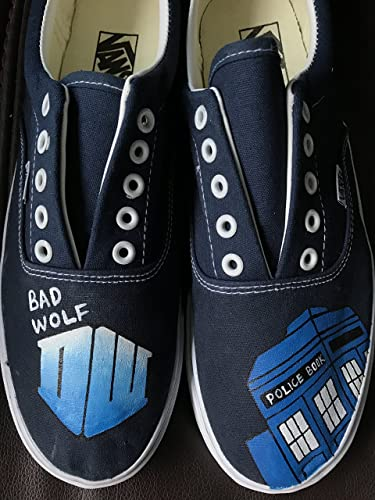 Amazon.com  Bad Wolf Custom Shoes Doctor Who Hand Painted Canvas Sneakers  Shoes For Men Women Free Shipping  Handmade 009c94736f33