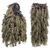 Hybrid Woodland Camouflage Ghillie Hunting Suit Light Weight Green Brown
