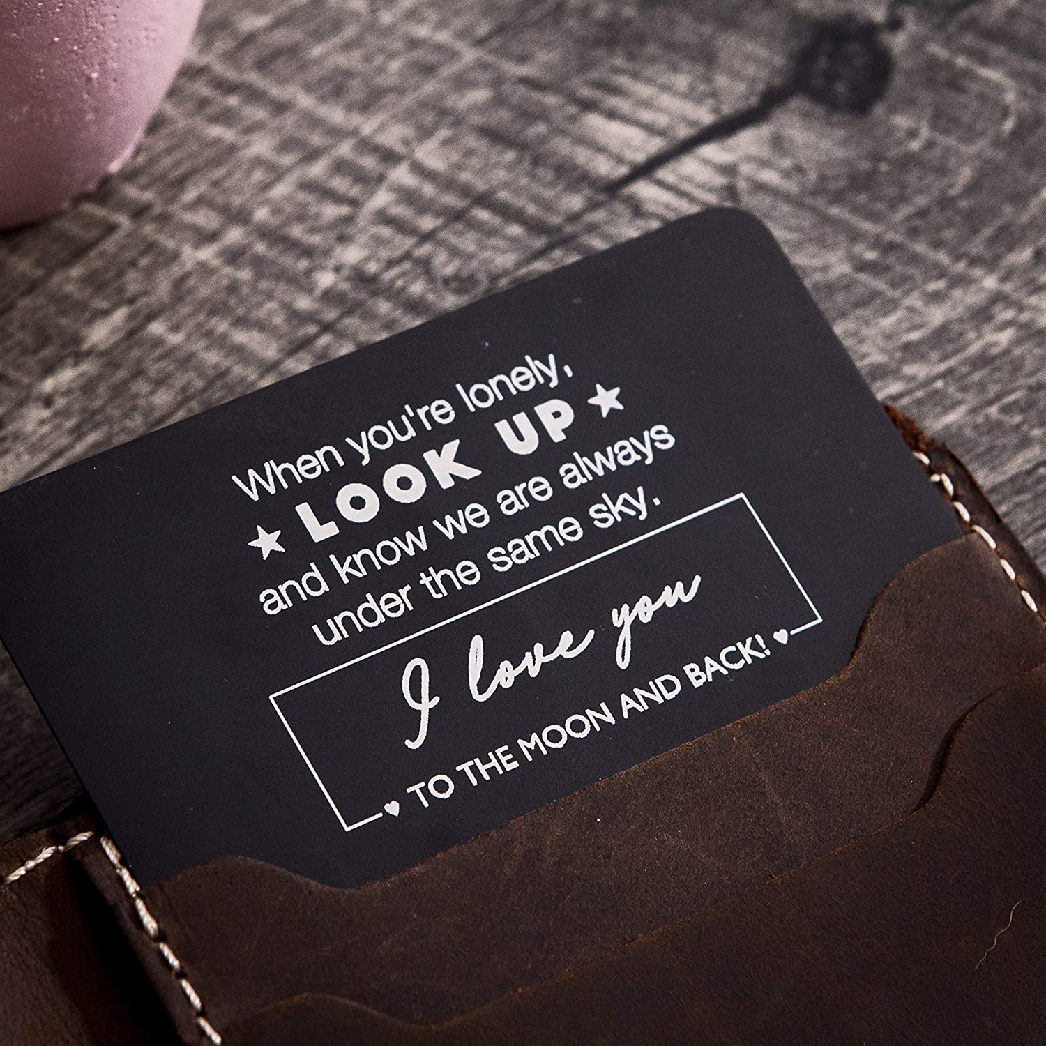 Amazon.com: I love you to the moon and back Metal Wallet ...