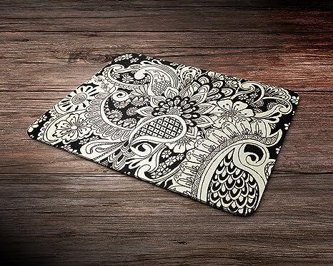 Henna Hina Mehndi Asian Art Rubber Mouse Mat PC Mouse Pad