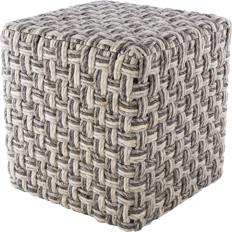 Artistic Weavers Pouf 20 X 20 X 14 Charcoal Cream Furniture Decor Amazon Com
