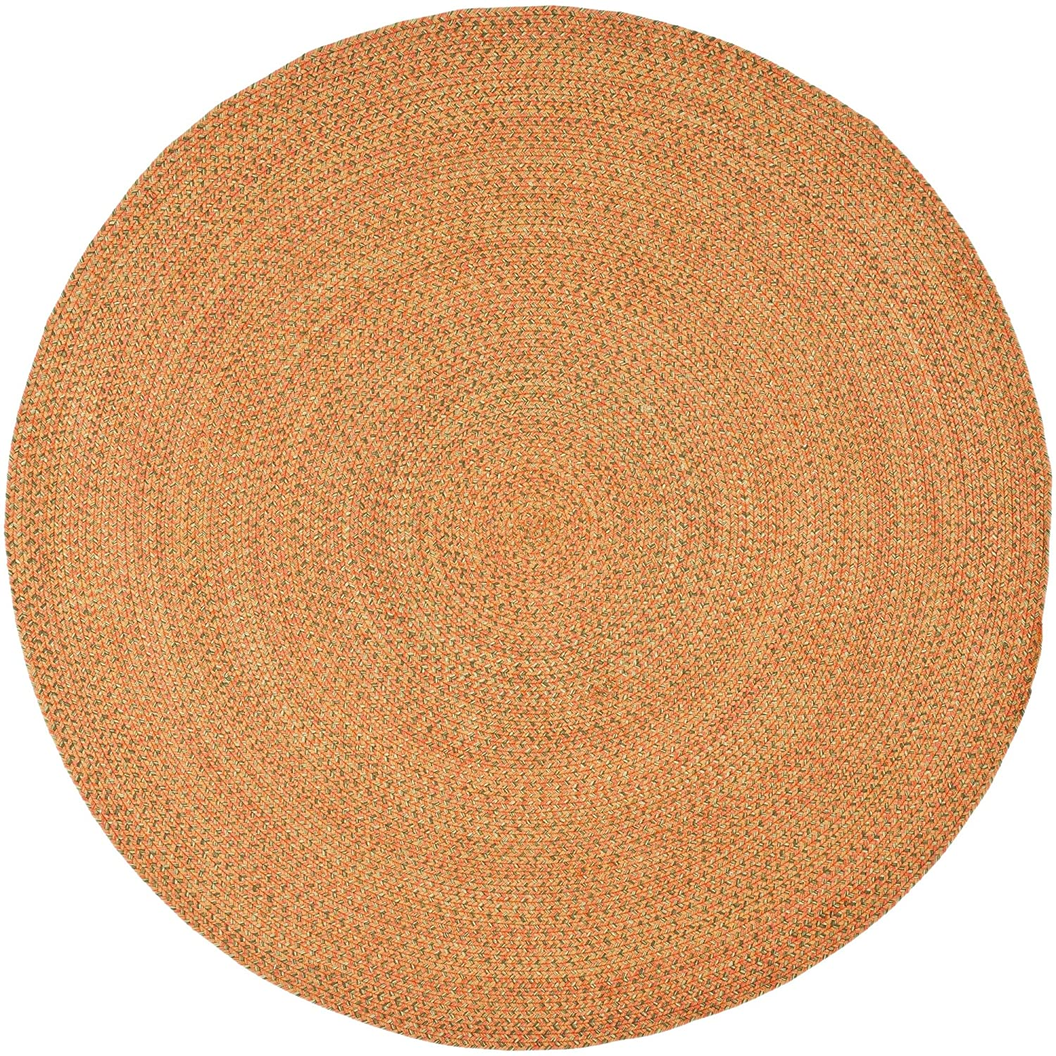 Safavieh Braided Collection BRD166A Hand Woven Multicolored Round Area Rug, 6 feet in Diameter (6' Diameter) BRD166A-6R