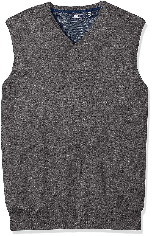 IZOD Men's Big and Tall Premium Essentials V-Neck Sweater Vest, Carbon Heather, X-Large IZOD Men's Sportswear 45X2741