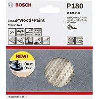 Bosch 2608621148-000, Disco Lixa Boschnet GR180-5X, Branco, 125 mm