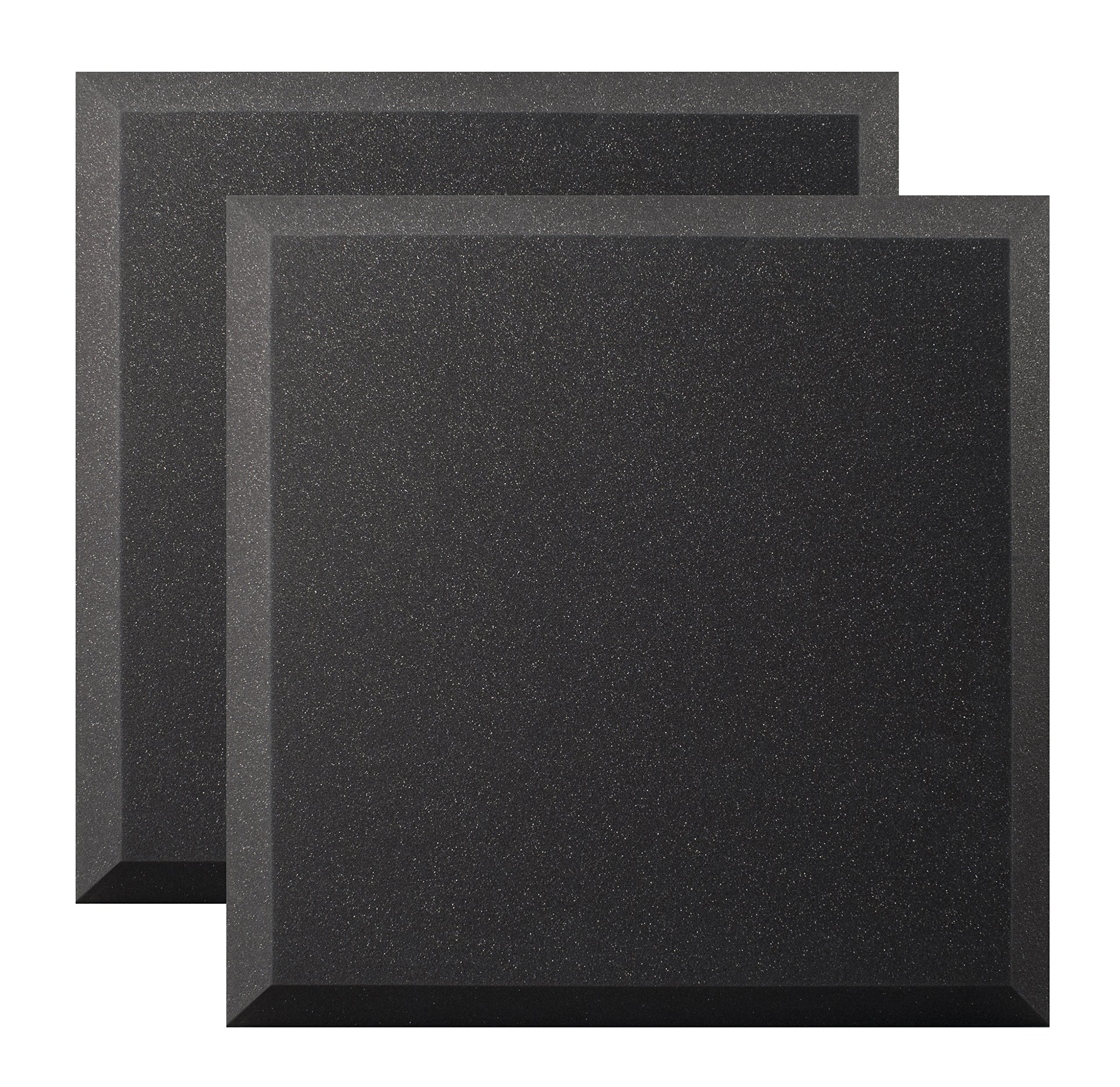 Ultimate Acoustics UA-WPB-24 Wall Panel 24''x24''x2'' Professional Acoustic Foam with Bevel and Mounting Tabs Included, 4 Pairs