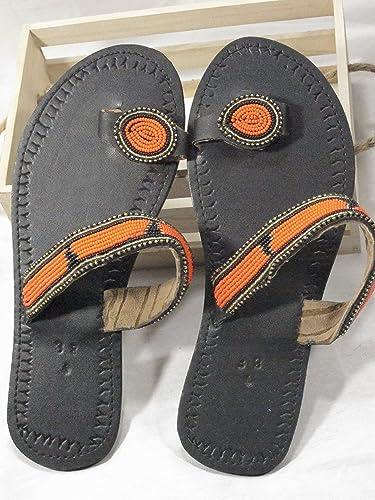 01f2d3153da34 Amazon.com: Size US 8 / UK 6 / European 38 Maasai/Masai Black ...