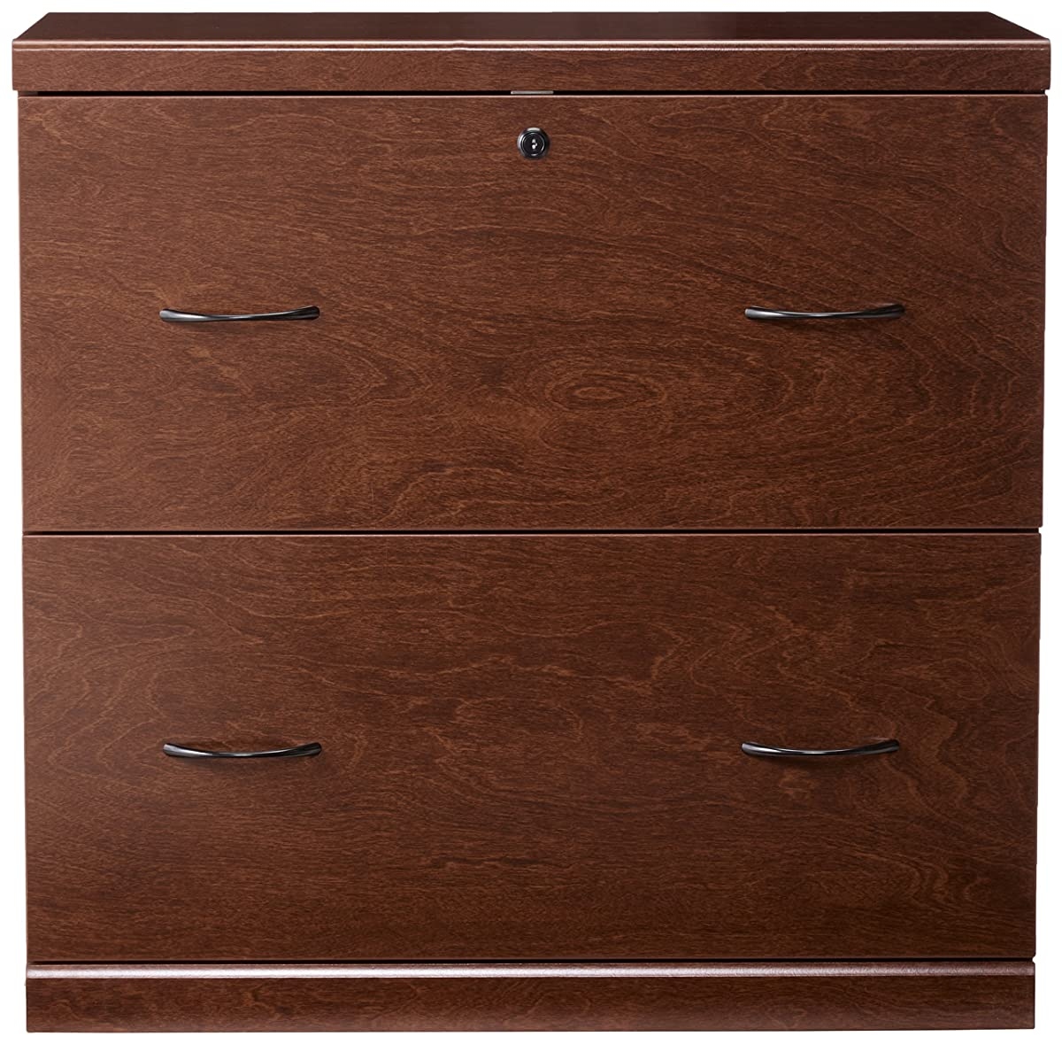 Z-Line Designs 2-Drawer Lateral File Cherry Cabinet with Black Accents