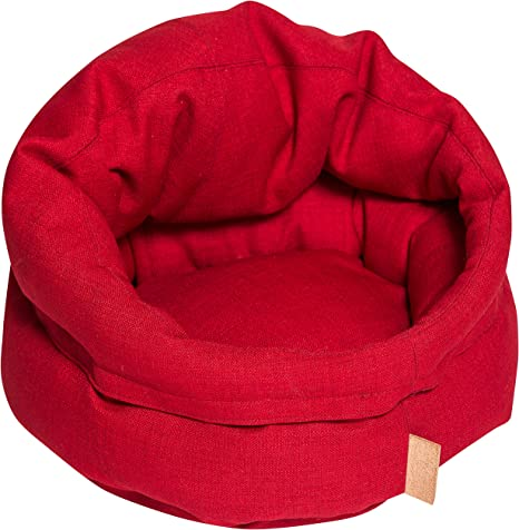 Amazon Com Nufnuf Dog Bed Benji Tomato Red Small Pet Supplies