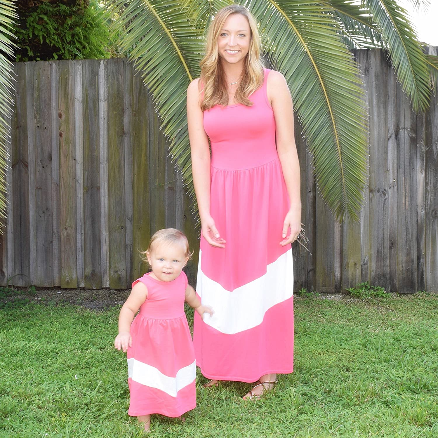 Amazon.com: Unique Baby Mommy and Me Matching Chevron Dress: Clothing