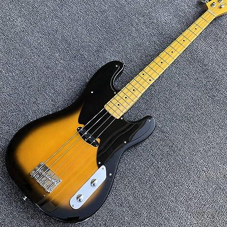 Guitarra de bajo eléctrico de 4 cuerdas, madera maciza, bajo ...