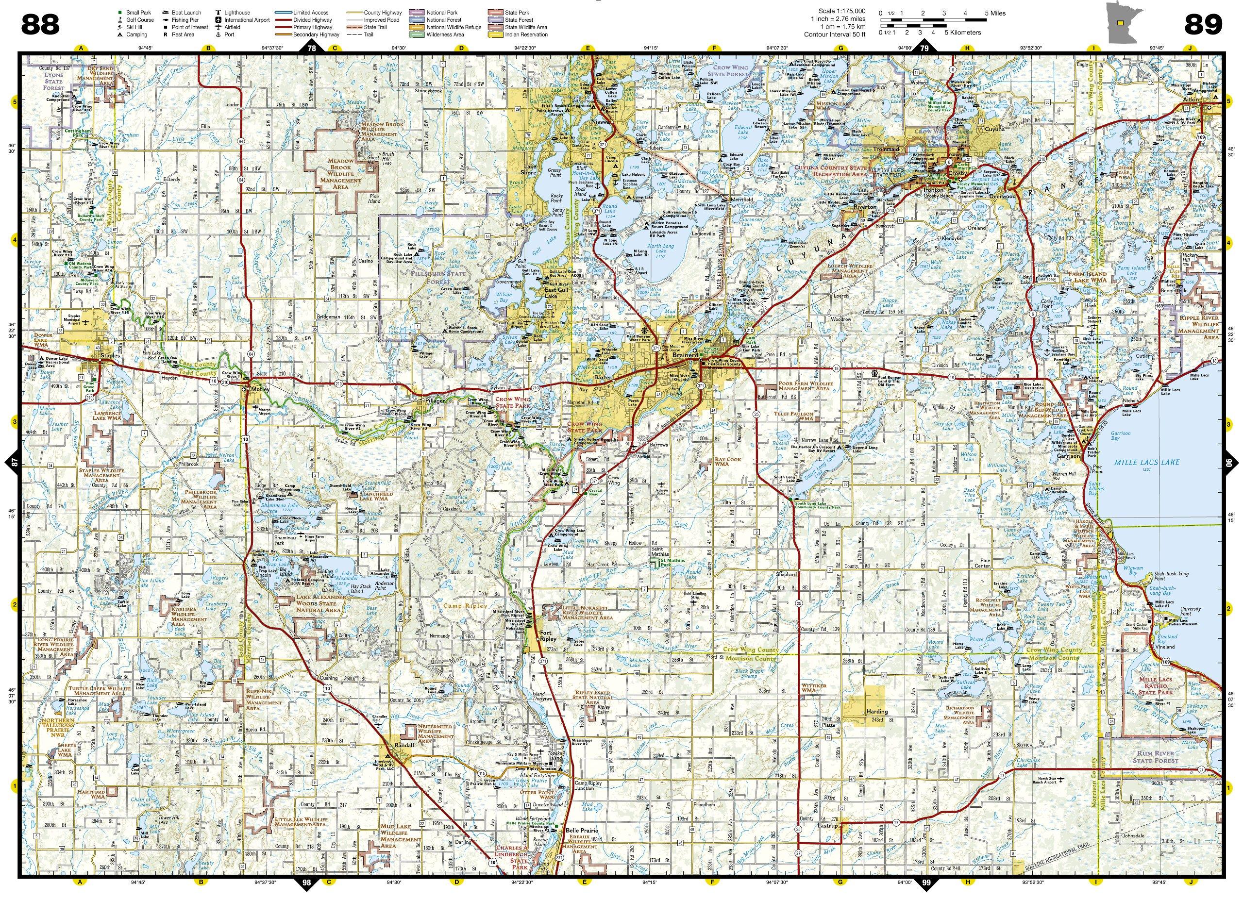 Minnesota Recreation Atlas National Geographic Recreation Atlas