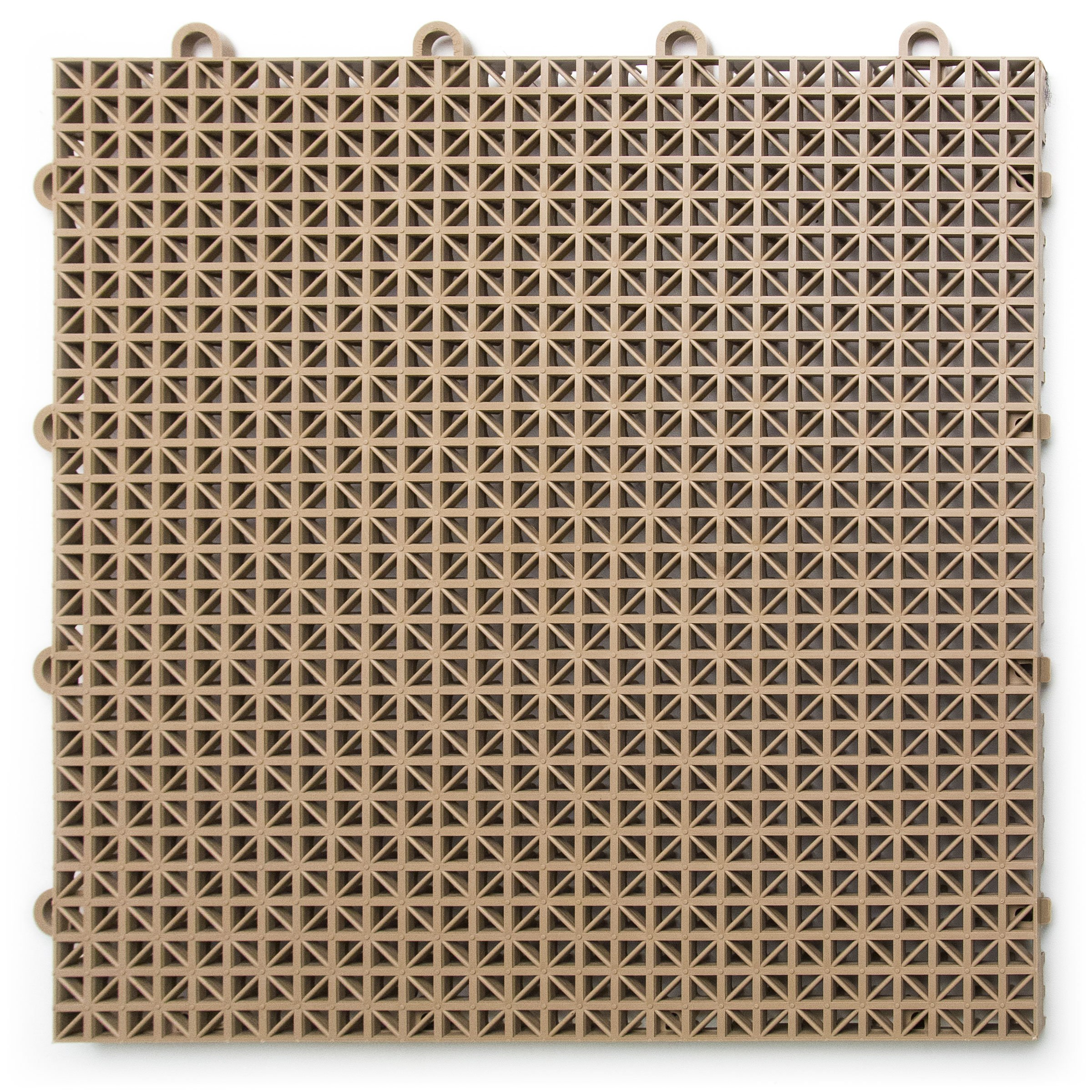 DuraGrid 12'' x 12'' Interlocking Deck and Patio Tiles, Pack of 30, Beige by DuraGrid®