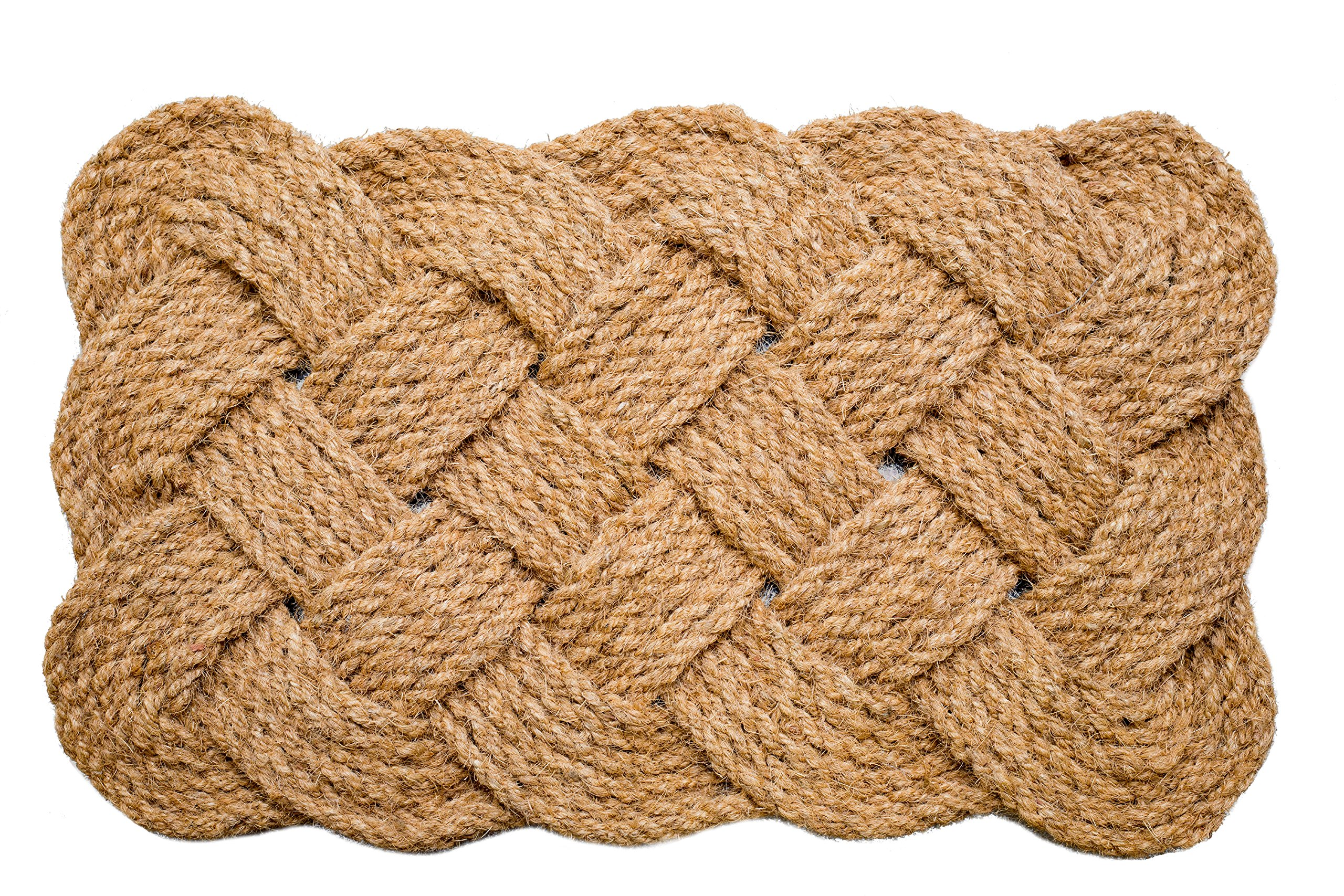 Iron Gate - Natural Jute Rope Woven Doormat 18x30 - Single Pack - 100% All Natural Fibers - Eco-friendly - Classic Interwoven Rope Design by Iron Gate