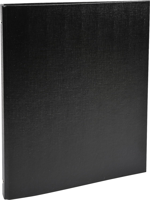 A4 Noir EXACOMPTA 51151SE Classeur rembord/é polypropyl/ène 4 anneaux 15mm