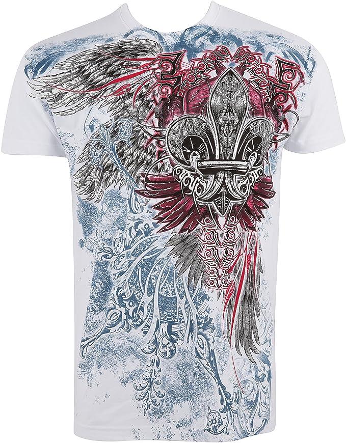 2 opinioni per Sakkas angelo cinque goffrato metallizzato t-shirt mens moda.