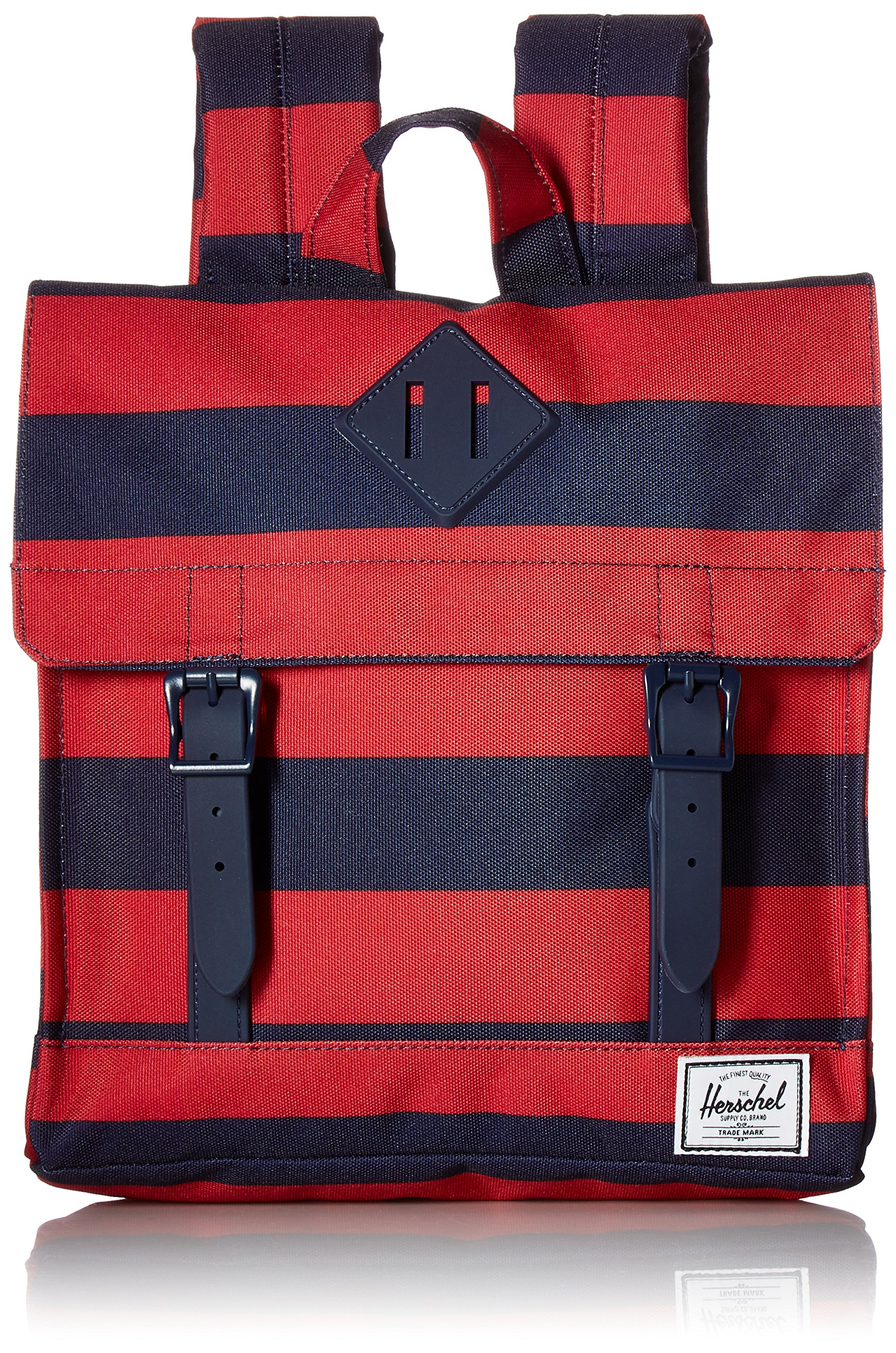 Herschel Supply Co. Survey Kids Backpack, Peacoat/Red Stripe/Peacoat Rubber