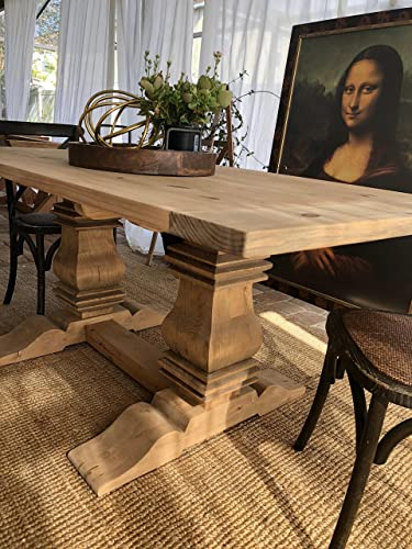 Amazoncom Trestle Dining Table Handmade - 72 trestle dining table