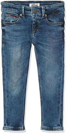 Tommy Hilfiger Scanton Slim Pmbstr, Jeans Gar?on, (Protect Mid Blue Stretch 911), 92