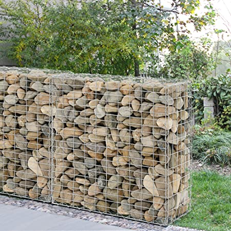 [pro.tec] 1x Gabione (100 X 100 X 30 Cm) Steingabione / Steinmauer /  Steinwand / Spalier /: Amazon.de: Küche U0026 Haushalt