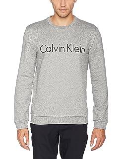 SEM Logo Crew Neck, Sudadera para Hombre, Blanco (White), X-Large Calvin Klein
