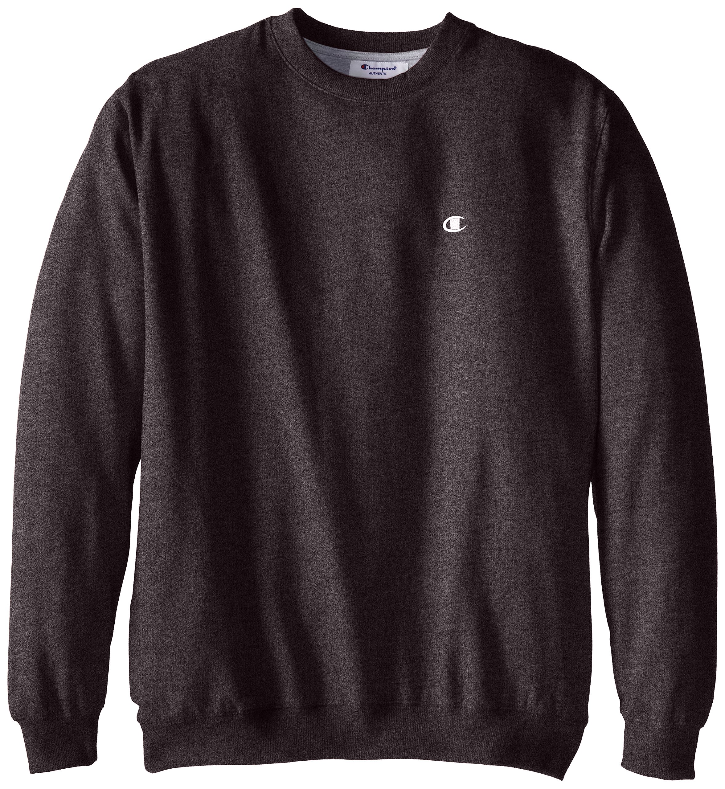 Champion Men's Big-Tall Fleece Crew Sweatshirt, Charcoal Heather, 5X