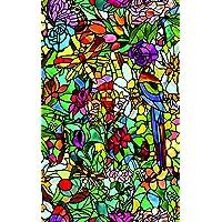 D-c-fix® kendinden yapışkanlı pencere folyosu plastik (vinil pencere folyosu) sipariş Buntglaseffekt Tulia 90cm x 1m (metre başına) 200–5598