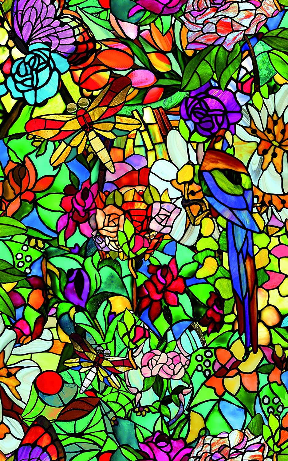 d-c-fix® Sticky Back Plastic (self adhesive vinyl window film) Stained Glass Effect Tulia 90cm x 1m (ORDER PER METRE) 200-5598 EXPSFD013170