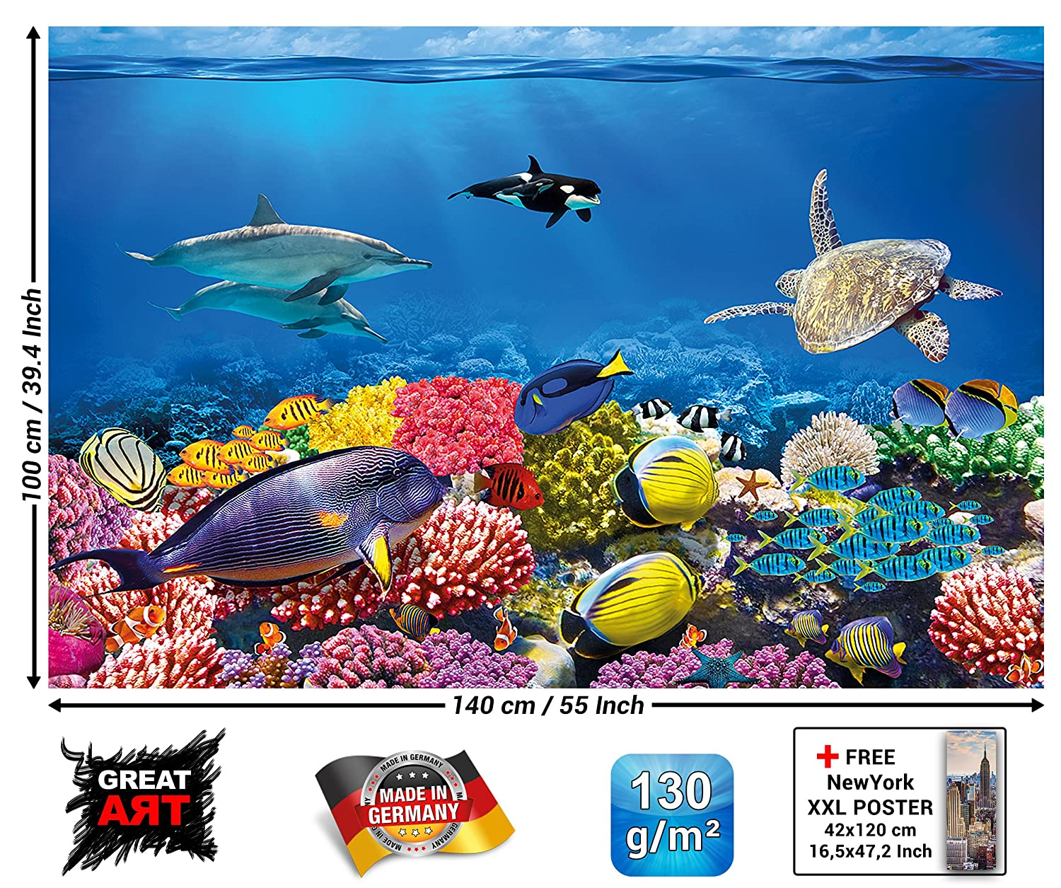 Amazon.de: Poster Kinderzimmer Aquarium Wandbild Dekoration ...