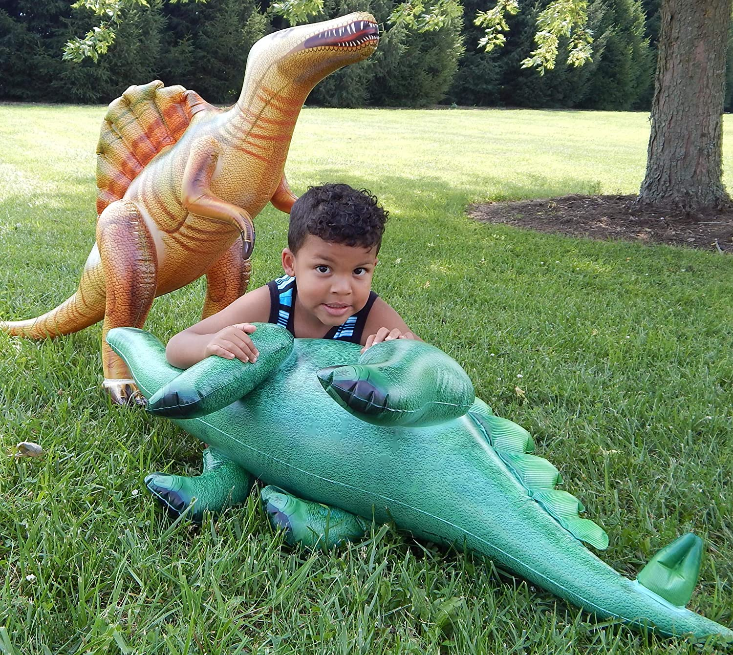 Inflatable Dinosaurs Toys by Jet Creations for Creative Play and Birthday Party Supplies with 24 Temporary Tattoos